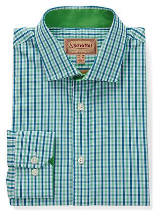 Hebden Tailored Shirt (Mint/Mykonos)