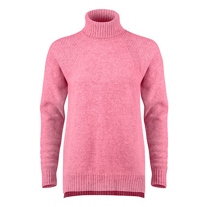 The Lambswool Roll Neck (Pink)