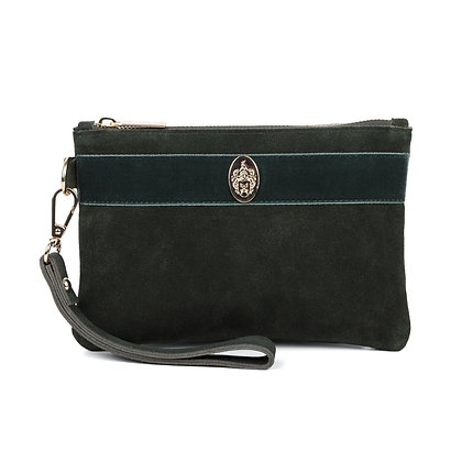 The Chelsworth Clutch Bag (Olive Green)