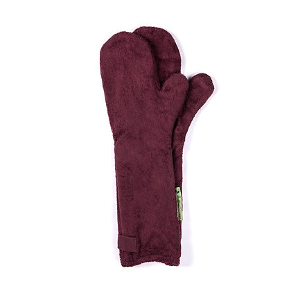 Dog Drying Mitts – For Legs & Paws (Burgundy)