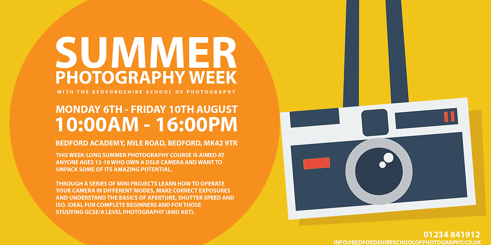 Summer Holiday Photography Week (Ages 13-17)