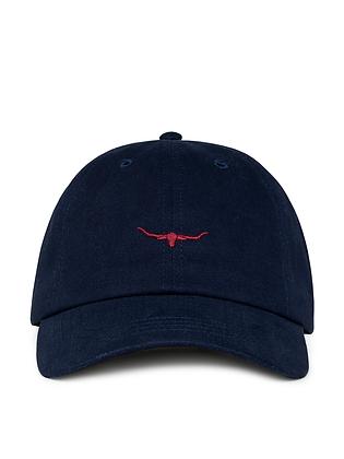 Mini Longhorn Cap (Navy/Red)