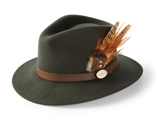 The Suffolk Fedora Gamebird Feather (Olive Green)