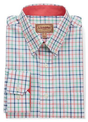 Holkham Classic Shirt (Mint/Mykonos/Coral)