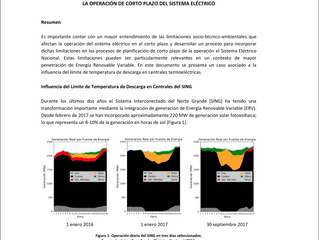 New Article on Environmental Factors to be Considered in Power System Operational Planning in Chile