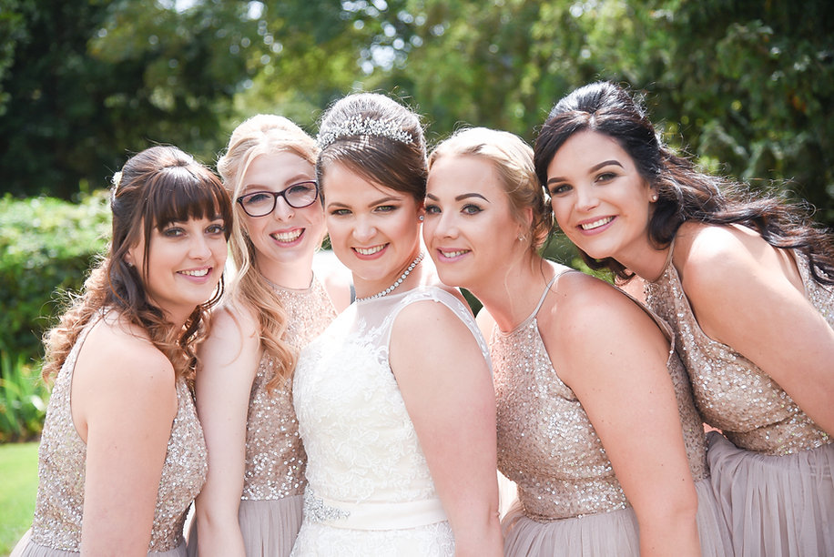 bride-with-bridesmaids-at-wedding-ceremo