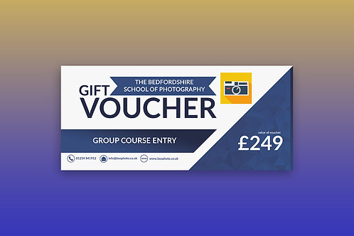 Photography Course Gift Voucher - £249.00