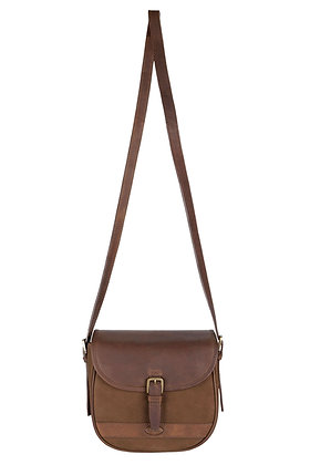 Clara  Leather Saddle Bag – Walnut