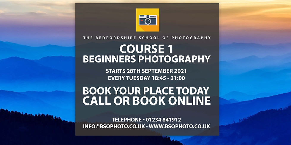 Course 1 - Beginners Photography