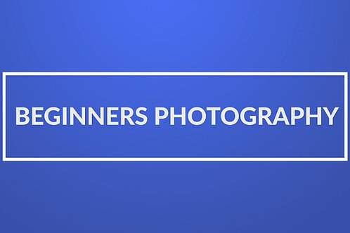 Digital Beginners Photography Course