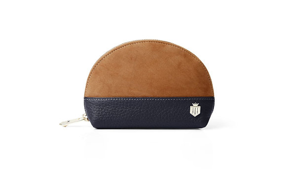 The Chiltern Coin Purse (Tan/Navy)