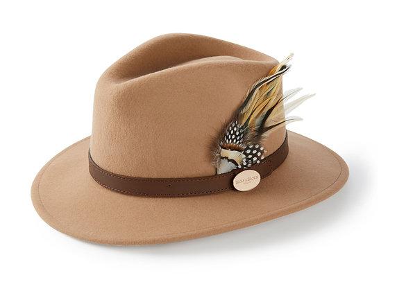 The Suffolk Fedora Guinea & Pheasant Feather (Camel)