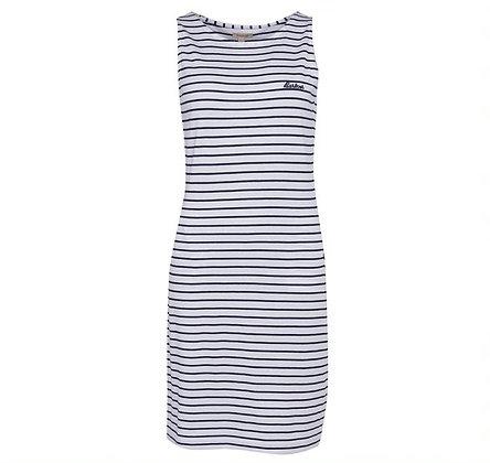 Barbour Dalmore Stripe Dress (White)
