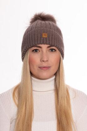 Vantage Atelier Bobble Hat (Taupe)