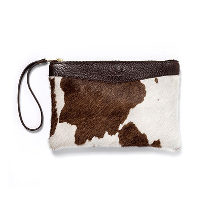 Tetbury Clutch (Brown/White)