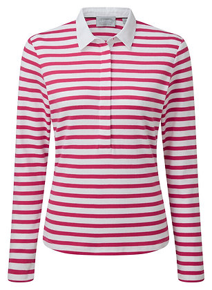 Sunny Cove Shirt (Fuchsia Stripe)