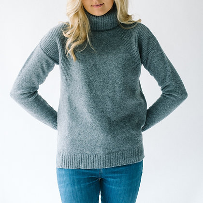 The Lambswool Roll Neck (Grey)