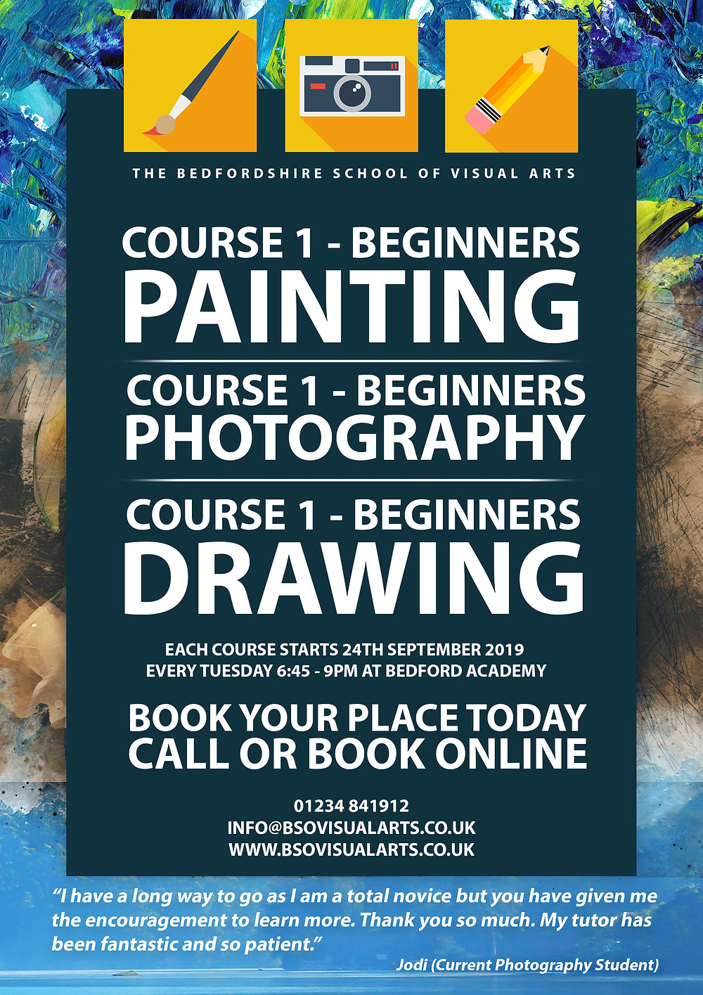 Bedfordshire School of Visual Arts Courses