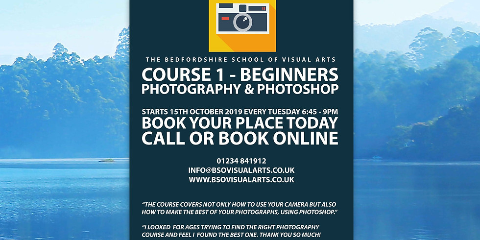 Course 1 - Beginners Photography & Photoshop