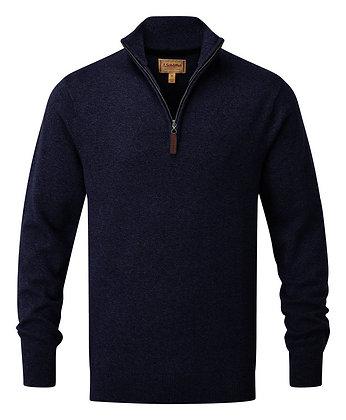 Cotton Cashmere ¼ Zip Jumper