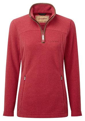 Tilton ¼ Zip Fleece (Pomegranate)