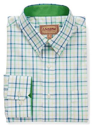 Holkham Classic Shirt (Mint/Yellow/Mykonos)
