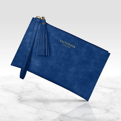 Serafina Clutch Bag (Mediterranean Blue)