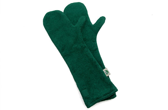 Dog Drying Mitts – For Legs & Paws (Bottle Green)