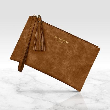 Serafina Clutch Bag (Tempting Toffee)