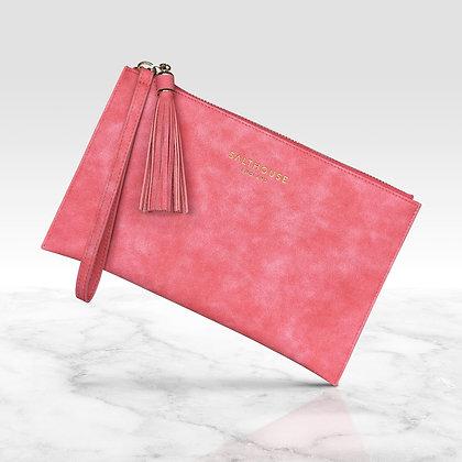 Serafina Clutch Bag (Coral Candy)