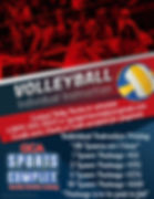Volleyball Individual Instruction Flyer.