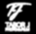 TJ Black Square Logo (White w black outl