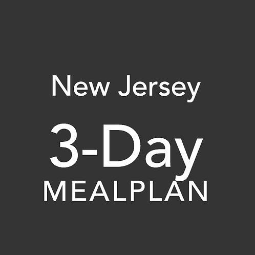 3 Day Meal Plan - New Jersey