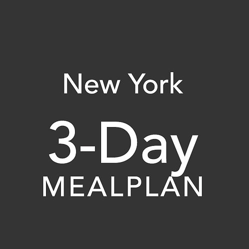 3 Day Meal Plan - New York