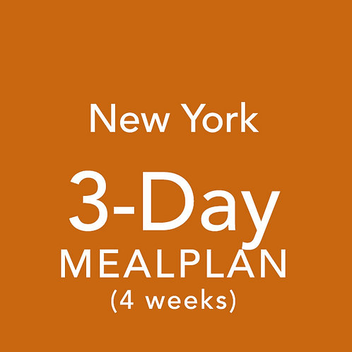 3 Day Meal Plan for 4 Weeks - New York