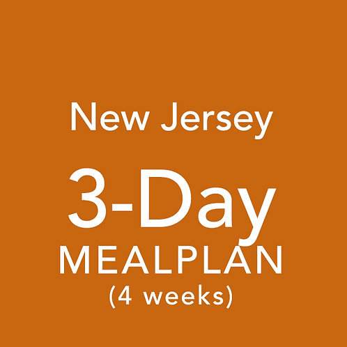 3 Day Meal Plan for 4 Weeks - New Jersey