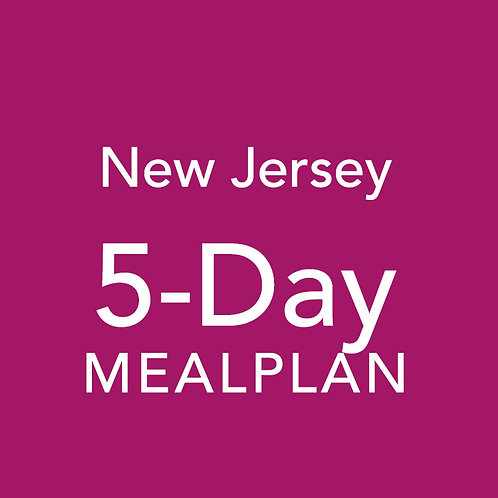 5 Day Meal Plan - New Jersey