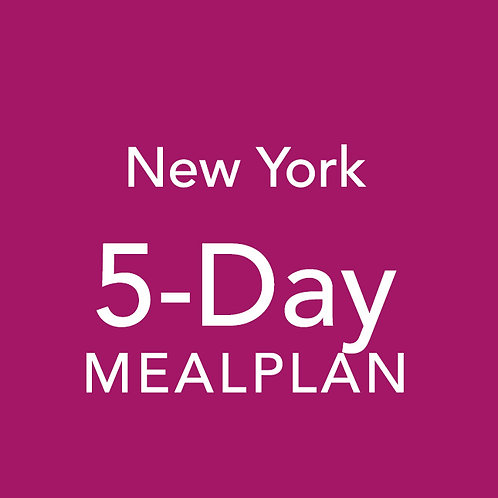 5 Day Meal Plan - New York