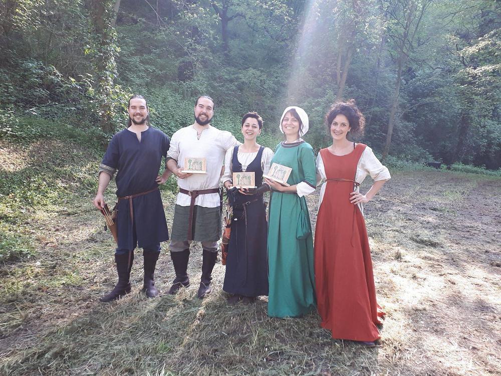 da sinistra: Andrea Ritossa, Davide Ritossa, Maria Orrano, Ania Cucunea, Matilde Graziani