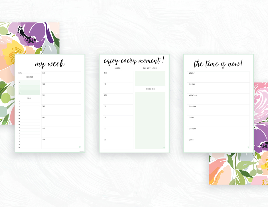 Gorgeous image within free printable planners
