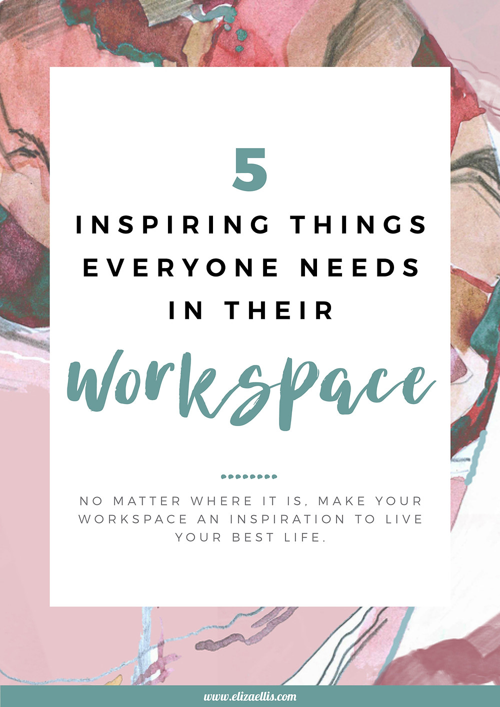 5 Inspiring Things Everyone Needs In Their Workspace // Eliza Ellis // find your why, inspirational quotes, inspiring stories, motivating words, inspirational people, happiness, how to be happy, goal setting, goal achievement, self care, self care ideas, self care for women, wellness inspiration, wellness lifestyle, wellness workplace, employee engagement, workplace activities, destress, reduce workplace stress, workplace wellness ideas, self care at work, workplace wellness program, desk ideas, desk inspiration, desk organization