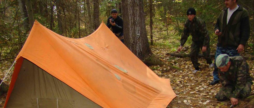 Установка палатки на скорость. Лысая гор. 2011.