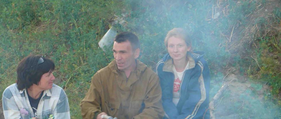 Возле костра. Тымск. 2006.