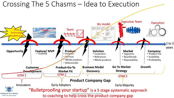 Five Chasms Business Evolution Process