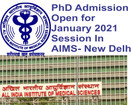 AIIMS- New Delhi Announces Admission for PhD Programme January 2021 Session