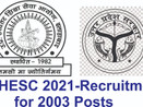 UPHESC Assistant Professor Recruitment-2021 for 2003 Post, Online Application Starts from 25 Feb.