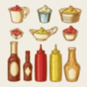 Nuestras salsas y adherezos especiales Hot Dogs del Liceo