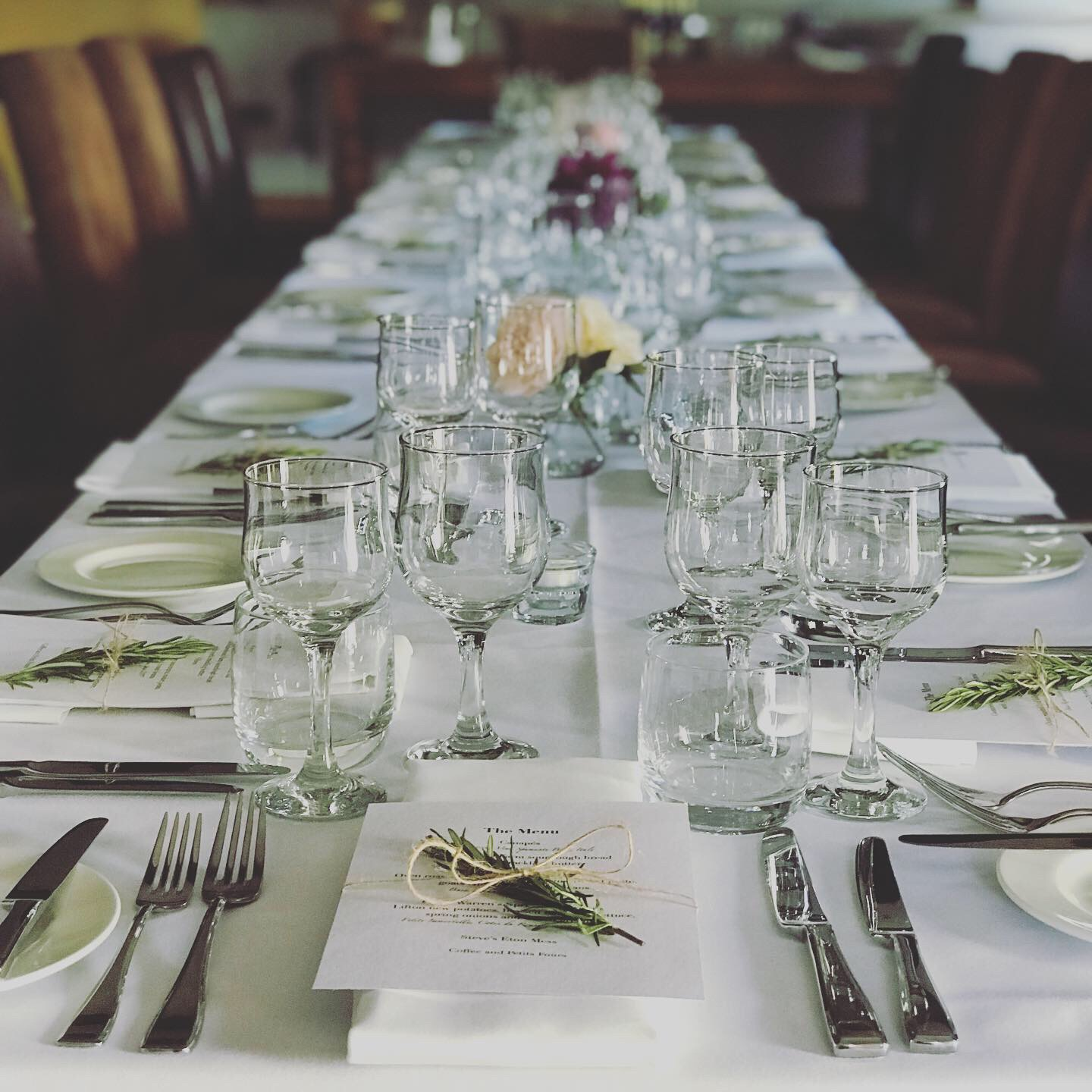 The Late Spring Supper Club table