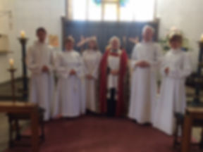 Lizzie with ordinands.JPG