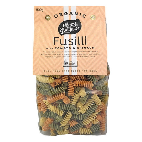 Pasta - Fusilli Tom&Spinach ORGANIC 500g